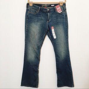 Arizona Jeans Co. Classic Bootcut Jeans NWT 17 Jr
